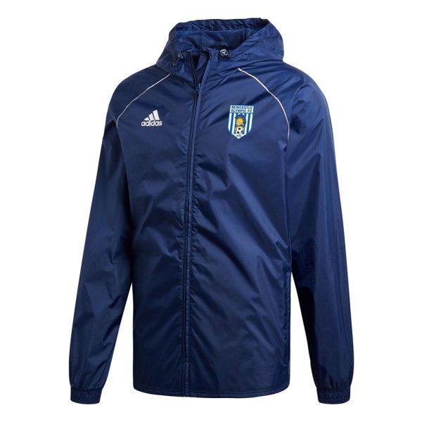 adidas club zone newcastle olympic fc core18 rain jacket