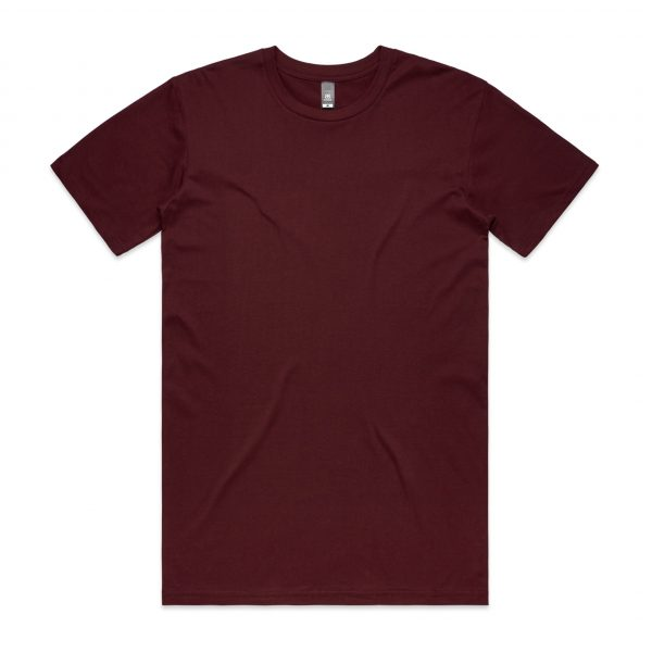 5001 staple tee burgundy 12